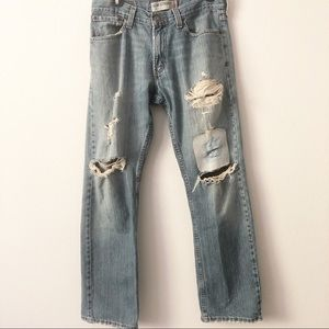 Levi's 514 Slim Straight Distressed Jean